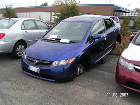 Honda Acura on 2008 Mugen Edition Honda Civic Si Vandalized On Dealer Lot   Autoblog