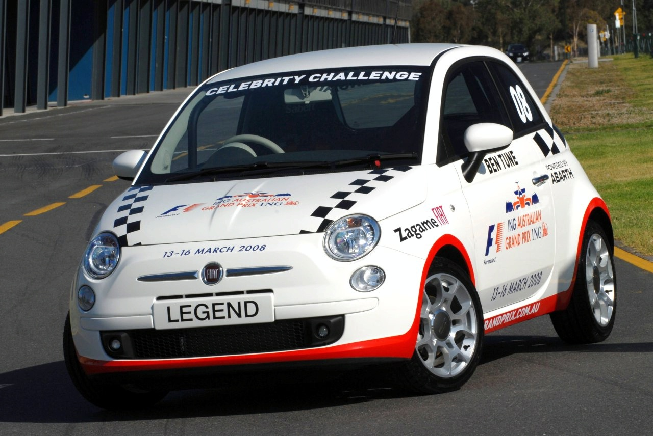 fiat 500 race at australian grand prix photo gallery autoblog. Black Bedroom Furniture Sets. Home Design Ideas