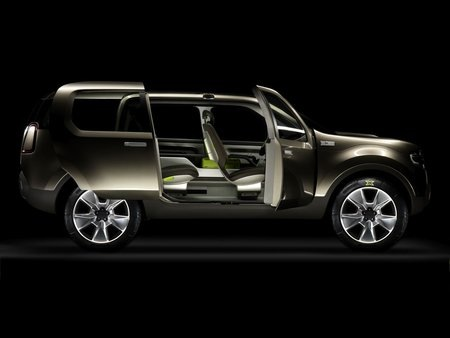 on this concept ford is also trying out some interior packaging innovations as well the first and second row seats are mounted on arms cantilevered from a - 2008 Ford Explorer Interior