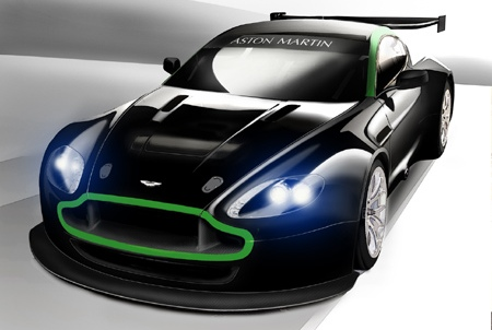 Auto Racing News  Media on Aston Martin Racing Releases Sketch Of Vantage Gt2