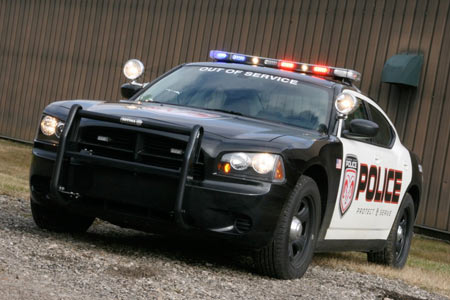 2008 Dodge Charger cop car – Click above for high-res image gallery
