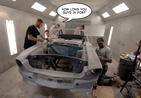 Unique Performance used prisons and buckets of Bondo to build Mustangs