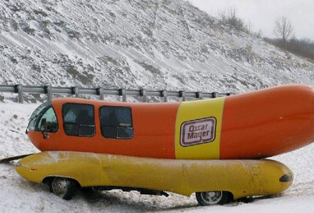 Wienermobile Down on oscar mayer weiner accident