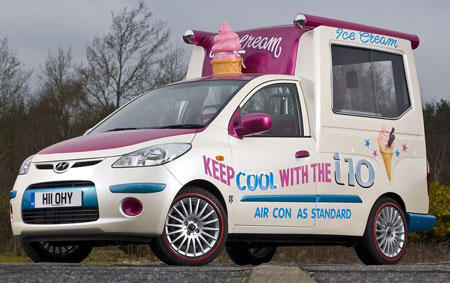 Hyundai i10 Ice Cream van hits sweet spot