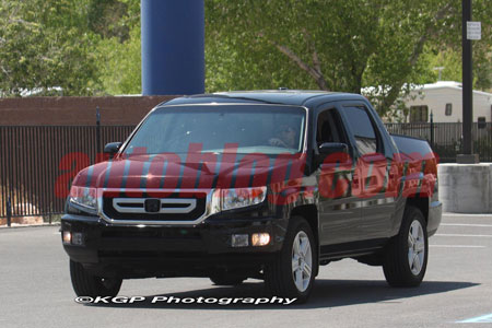 of the 2009 honda ridgeline after honda showed its new schnoz on the
