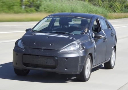 Ford Fiesta Sedan 2009. Spy Shots: 2010 Ford Fiesta