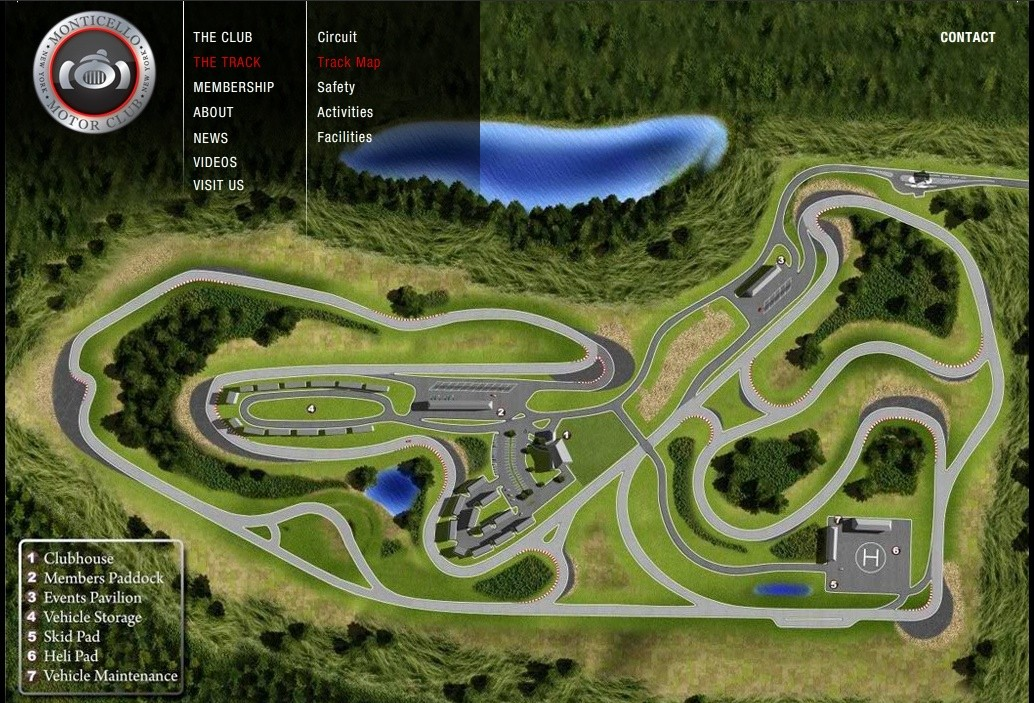 Usa f1 track for Watkins motor lines tracking