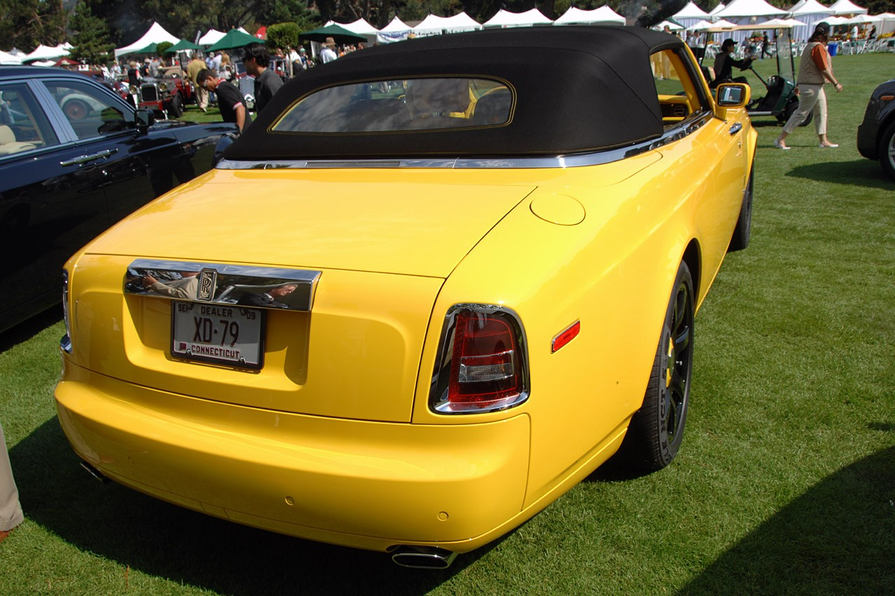 Monterey 2008 Yellow Rolls Royce Phantom Drophead Coupe Photo Gallery Autoblog