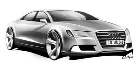 Official Audi A7 Sketch