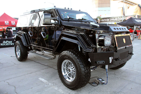 Military  Sales on Sema 2008  Knight Xv Armored Suv Lets You Take Your Undergound Lair
