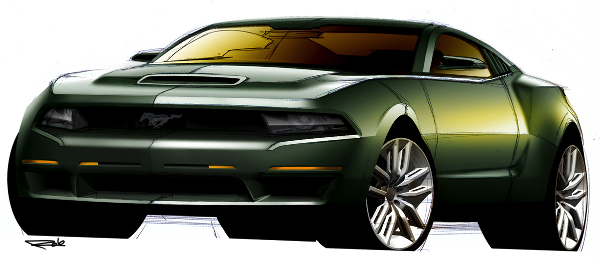 Possible Looks Of Future Mustang Sketches Camaro5 Chevy