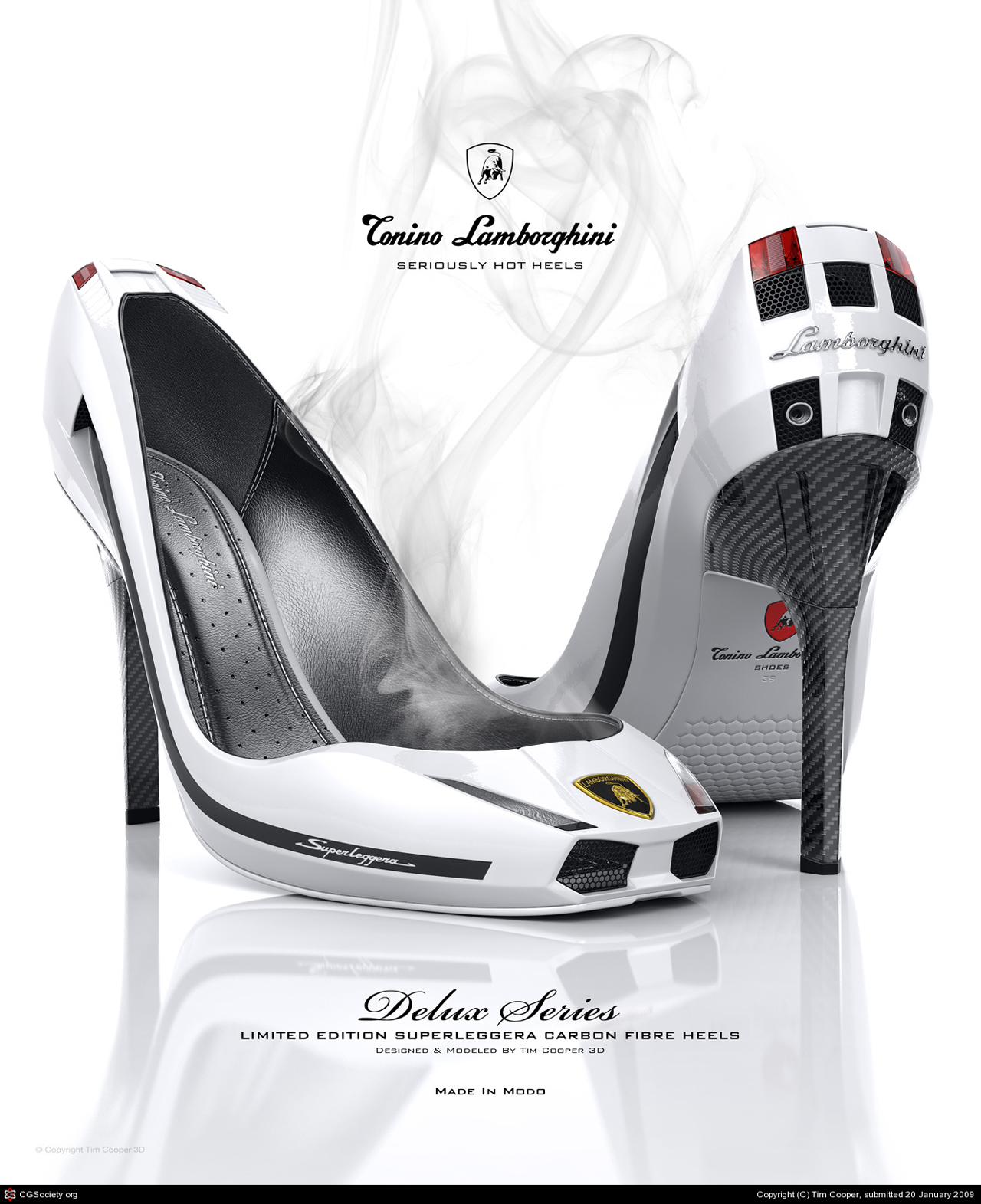 Lamborghini Gallardo Stilettos Designed by Modo Illustrator Tim Cooper