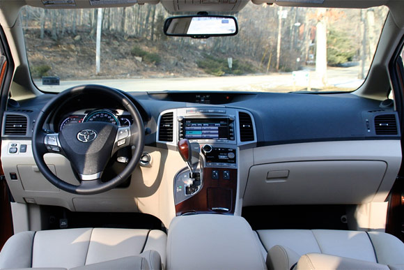 Inside, The Tarted Up Venza Tries To Play The Lexus Lite Card. The Tan  Leather Seats Are Accented With Dark, Contrast Piping; The Black Instrument  Panel Has ...