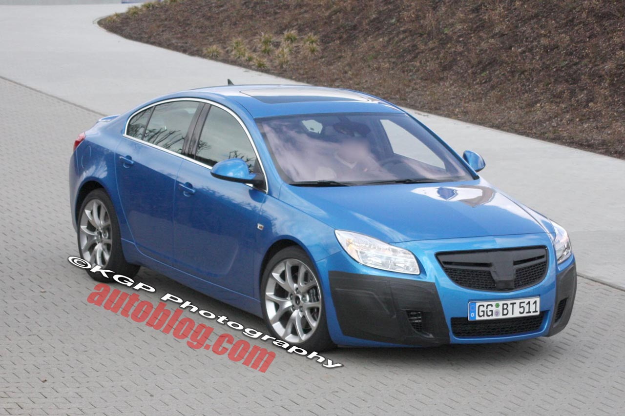 opel insignia opc uncovered spy photo. Black Bedroom Furniture Sets. Home Design Ideas