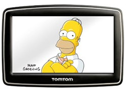 Homer Simpson on TomTom navi screen