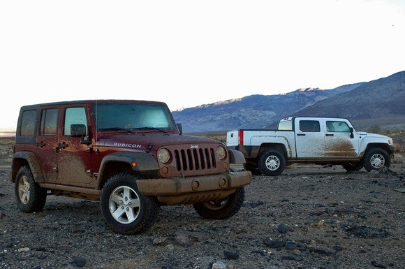 Jeep Wrangler Rubicon Unlimited vs. Hummer H3T – Click above for ...