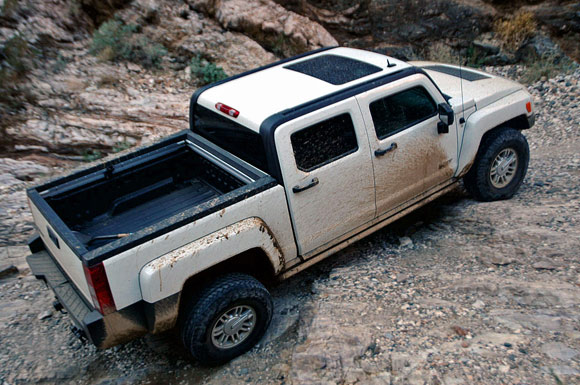 2018 hummer pickup. interesting 2018 but the hummeru0027s slightly wider track could prove to be its undoing  approaching a sign that warned  and 2018 hummer pickup