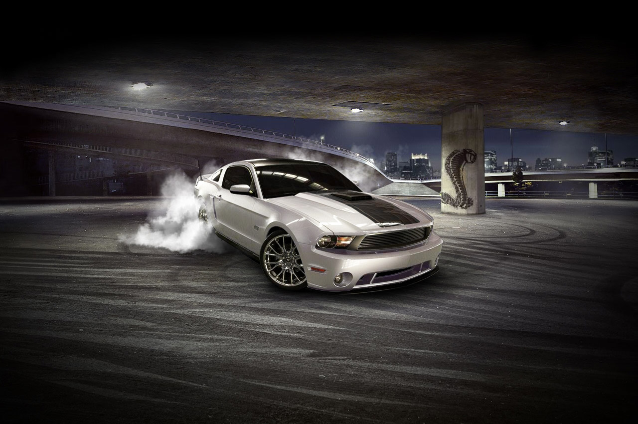 Ford launches 2010 Mustang customizer complete with varying ...mustang burnout