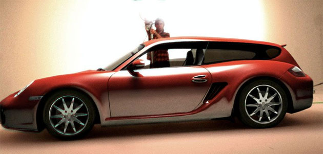 Porsche Cayman Shooting Brake revealed?