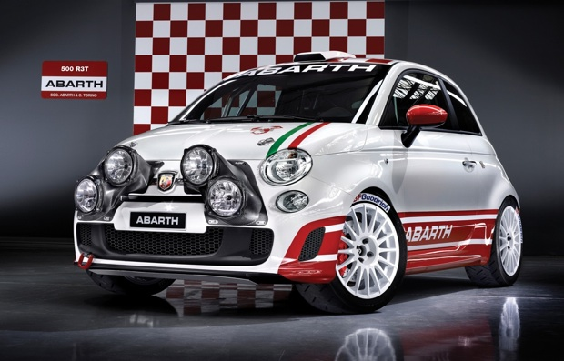 Fiat unveils rally-spec Abarth 500 R3T in San Remo