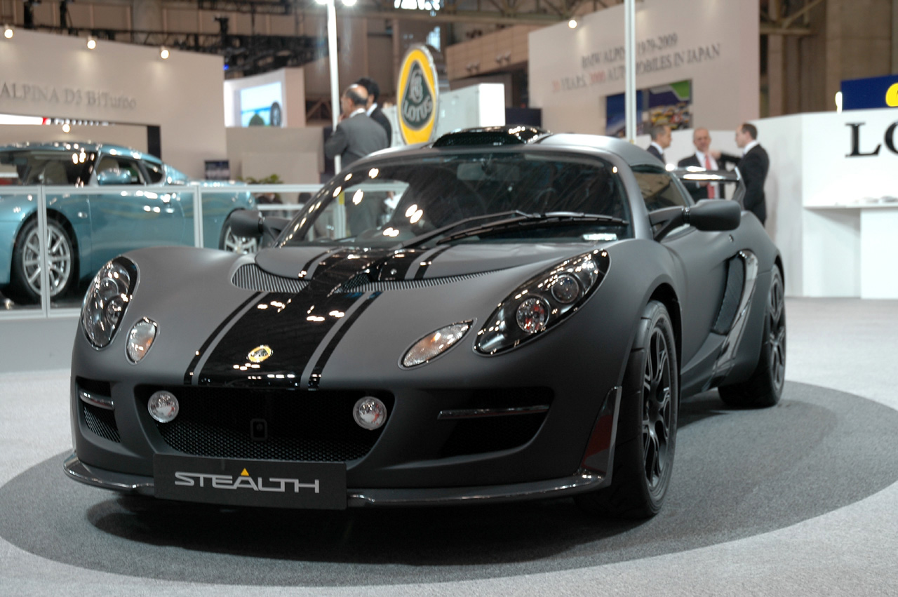 Tokyo 2009 lotus exige stealth complete with soft touch for Matte black car paint price