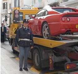 Outraged Italian police set to crush fake Ferrari