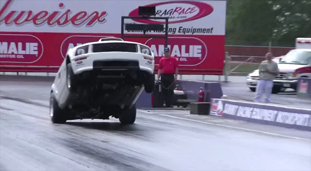 VIDEO: 2010 Ford Mustang FR500CJ catches air