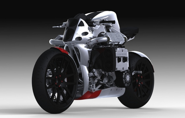 Rendered for Your Pleasure: Subaru WRX-powered Kickboxer motorcycle concept