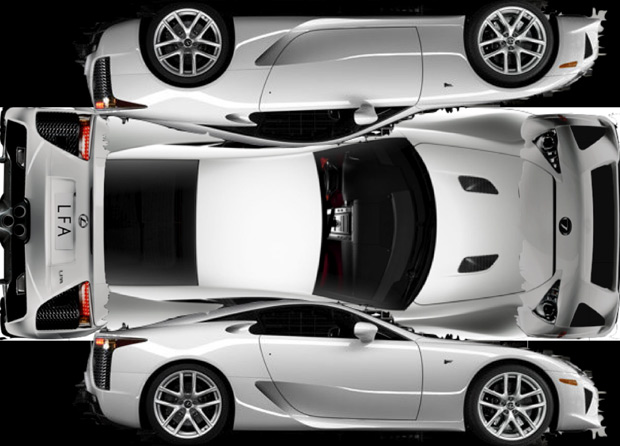 The Lexus LFA may cost $375k, but the paper one is free