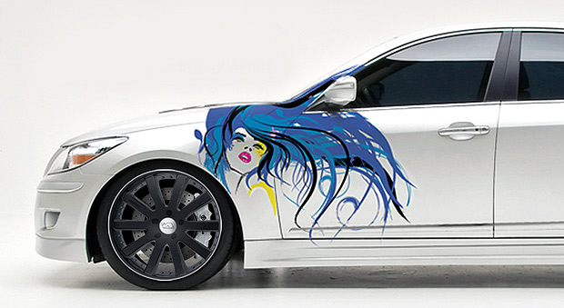 Over the years thousands of cars with custom paint jobs have littered the