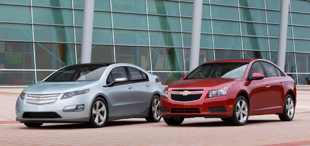 Chevrolet Volt and Chevrolet Cruze
