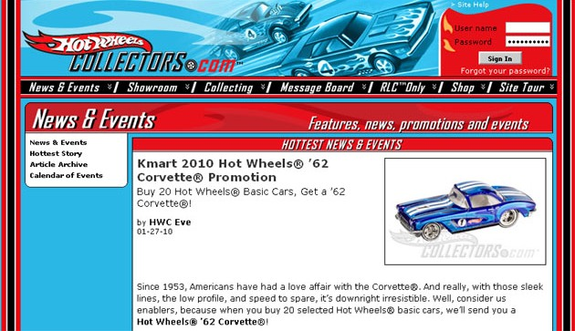 Hot Wheels Kmart Promo