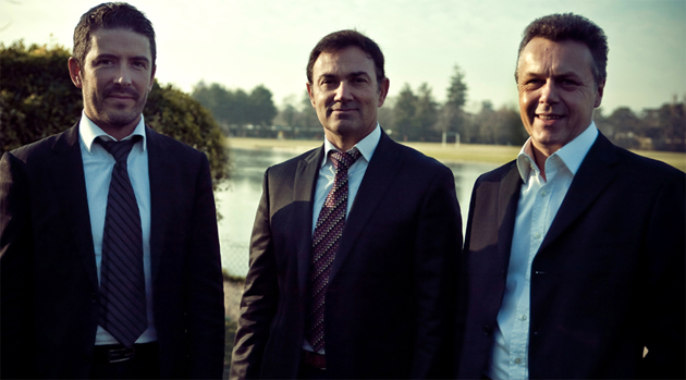 Left to right: Gilles Vidal, Jean-Pierre Ploué and Thierry Metroz