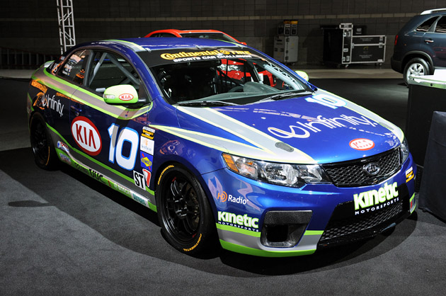 Kia shows off new Forte Koup racecar