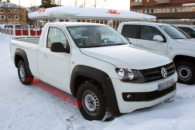 Spy Shots: Volkswagen Amarok single-cab – Click above for high-res