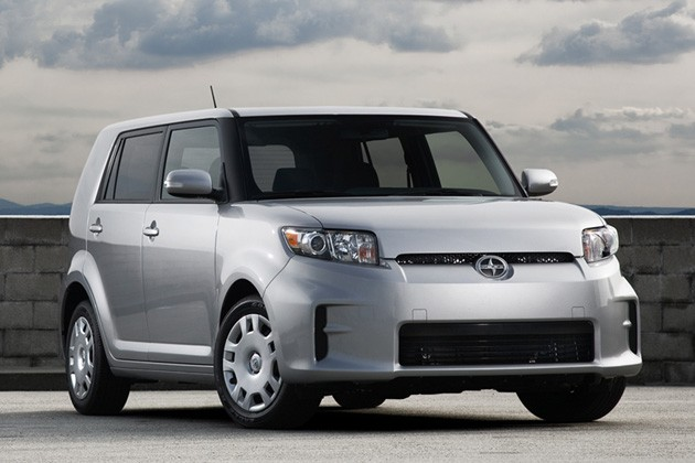 2011 Scion xB in silver - front three-quarter view