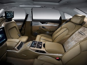 2011 audi a8 l arrives with 500 hp w12 seating for a king maker autoblog. Black Bedroom Furniture Sets. Home Design Ideas