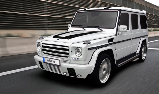 Mercedes-Benz G55 car - Color: White  // Description: amazing