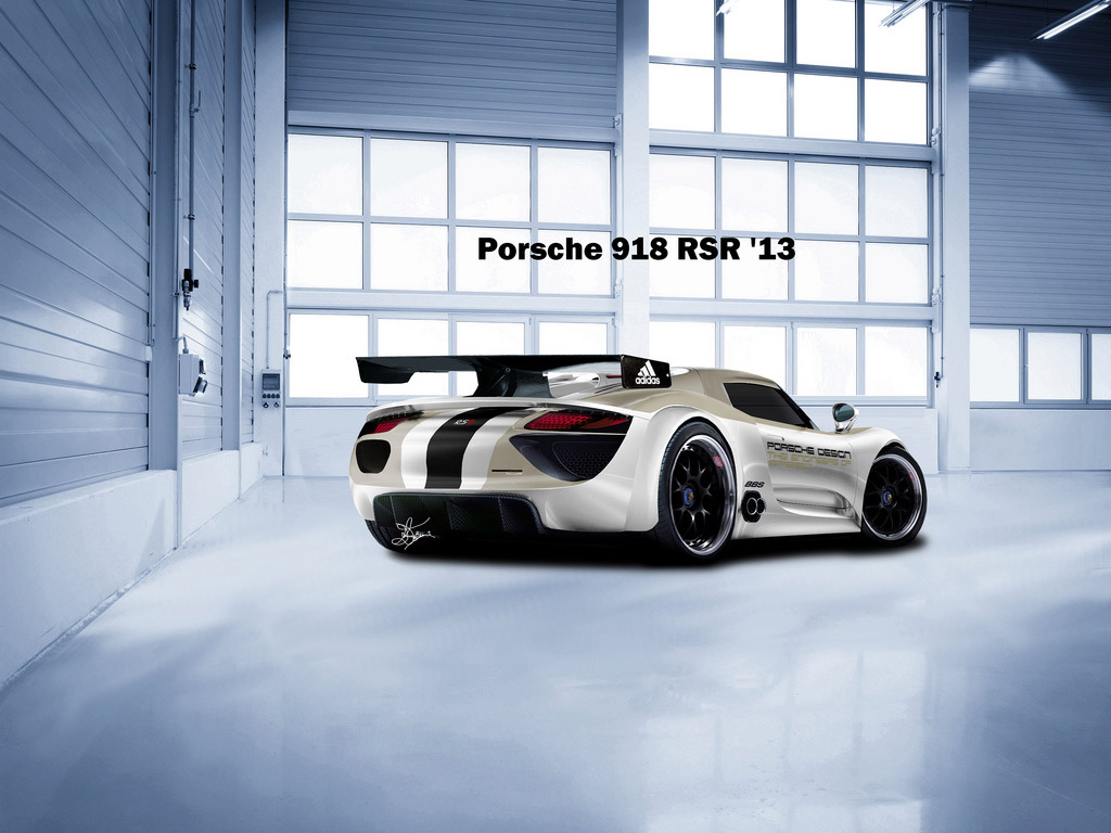porsche 918 rsr renderings wallpaper