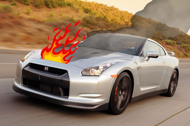 Report Nissan Gt R Goes Up In Flames While Parked In