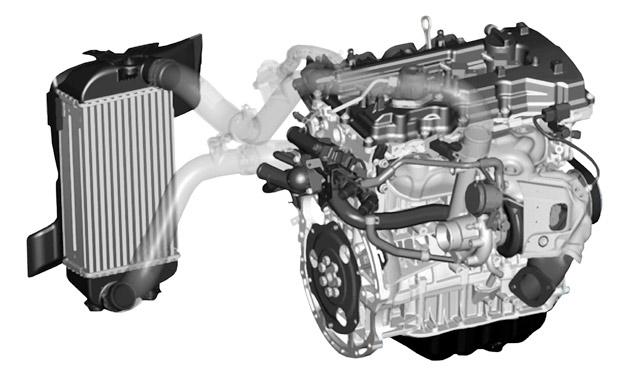 four-cylinder engine