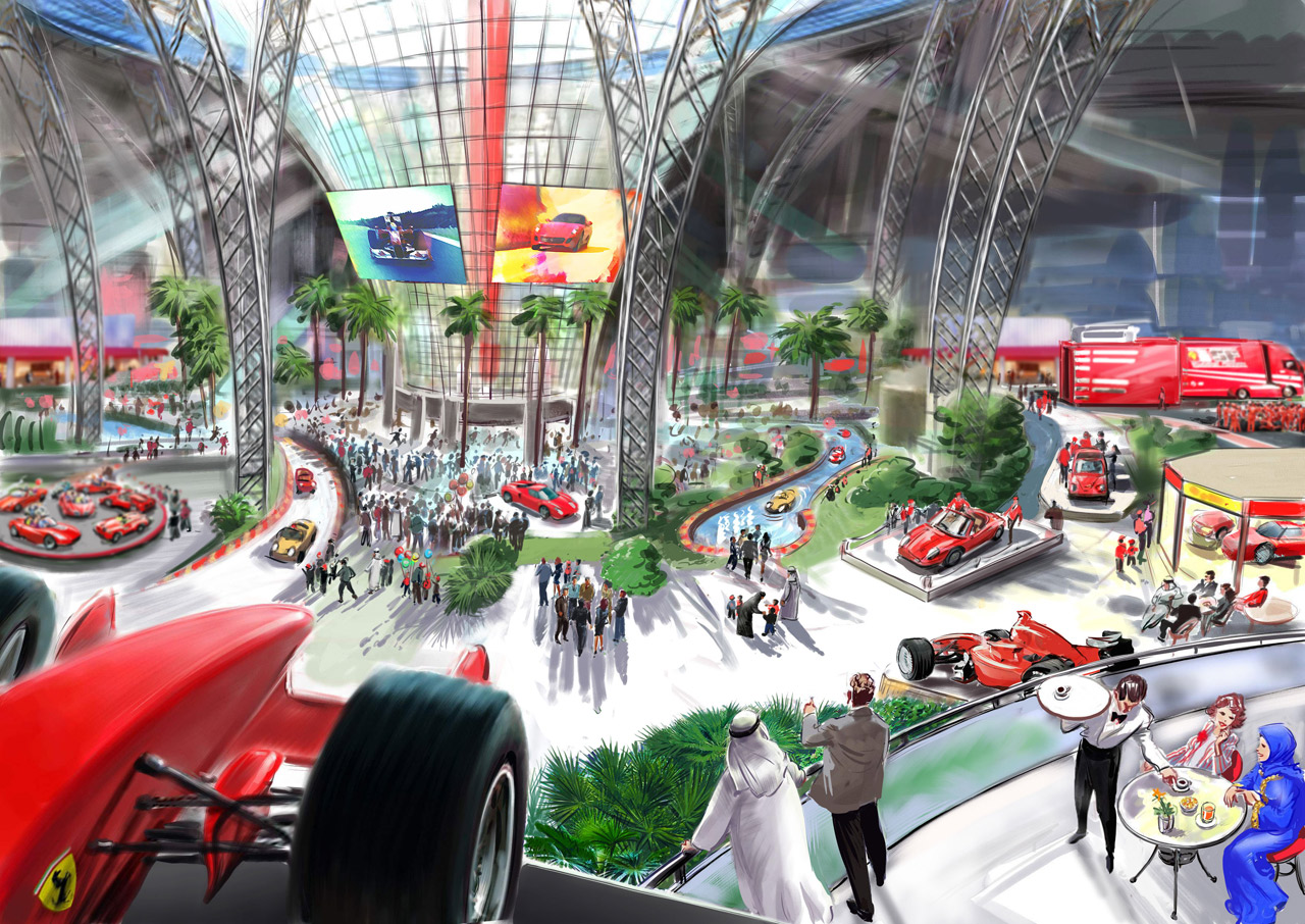 Renderings and a bit of info on the ferrari world theme park in abu dhabi lexus is forum