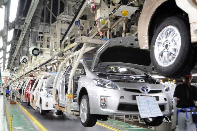 Auto production in Japan