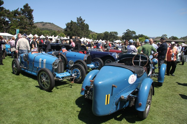 Bugatti GP cars at The Quail