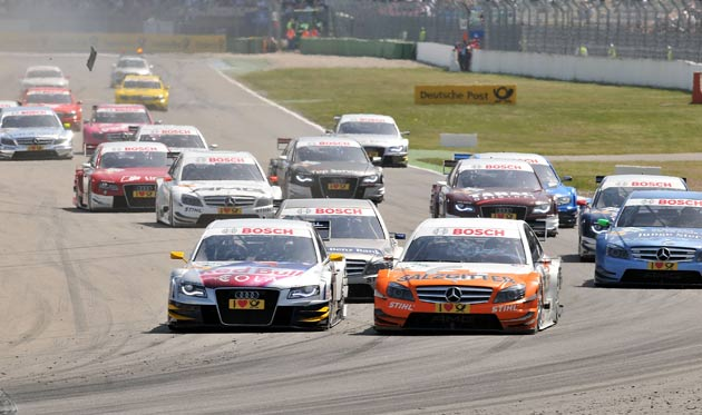 DTM race start at Hockenheim 2010