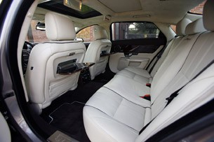 2011 Jaguar XJL rear seats
