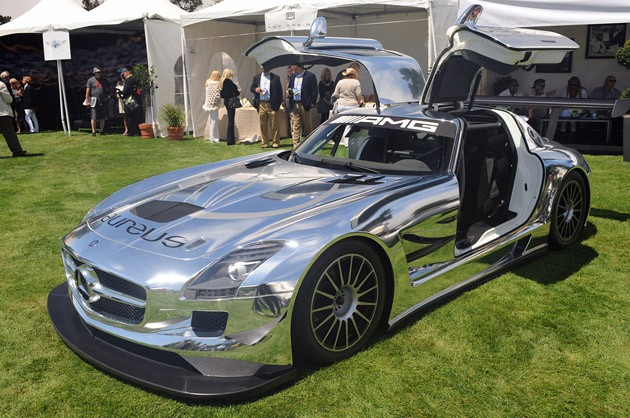 Chromed Mercedes-Benz SLS AMG GT3