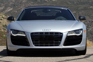 2011 Audi R8 V10 Spyder head-on view