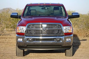2010 Ram 3500 Laramie Mega Cab head on