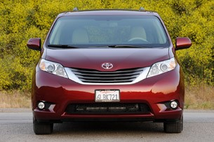 2011 Toyota Sienna head-on